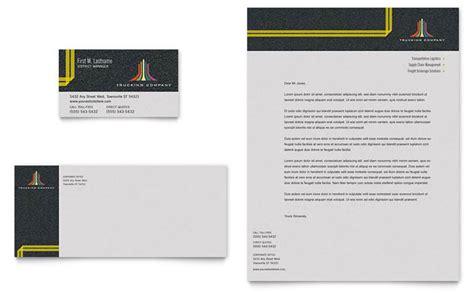 trucking transport business card letterhead template