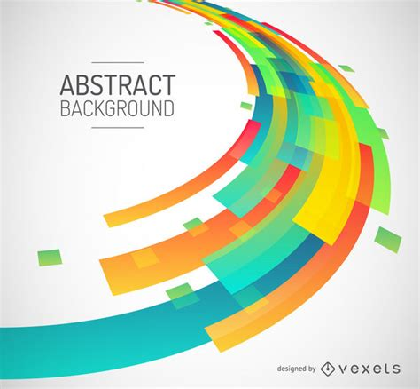 Abstract Colorful Geometric Shapes Background by Abstract Colorful Geometric Shapes Background Vector