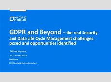 GDPR and Beyond Security and Data Life Cycle Management