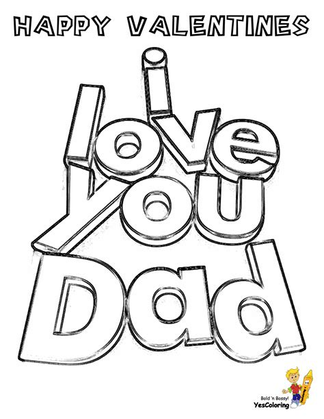 cool coloring pages  print valentines  dad valentines