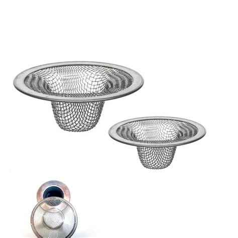 kitchen sink drain strainer 2 pc stainless steel mesh sink strainer drain stopper trap