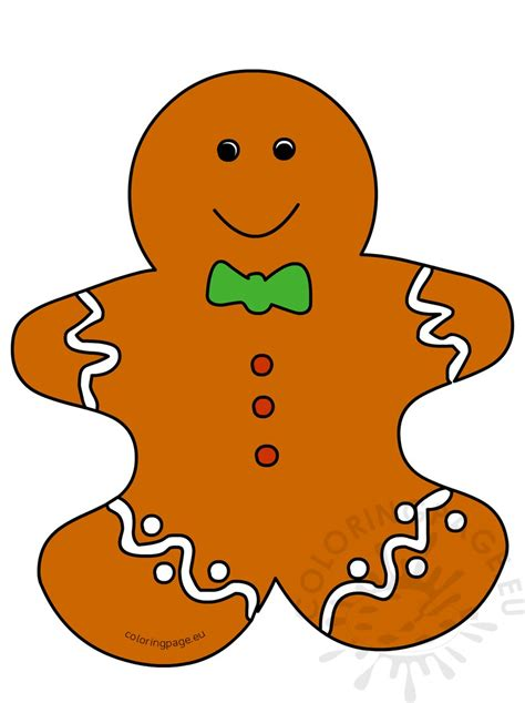 cartoon gingerbread man print coloring page