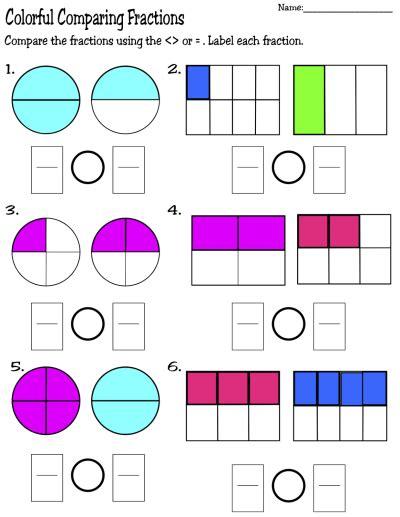 printable fraction worksheets fractions fractions