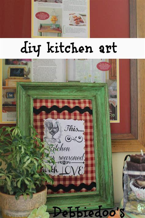 diy kitchen decor 10 easy diy kitchen craft decor ideas debbiedoos