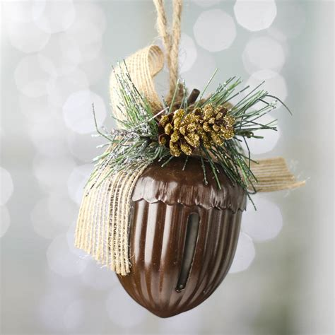rustic holiday acorn bell ornament christmas ornaments