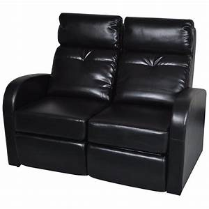 artificial leather home cinema recliner reclining sofa 2 With black leather 5 seat recliner sectional sofa