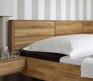 Bett Kopfteil Kissen : massivholzbett schwebend aus kernbuche rosso ~ Michelbontemps.com Haus und Dekorationen
