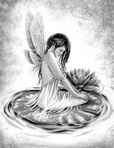 Grayscale Fairy Adult Coloring Pages