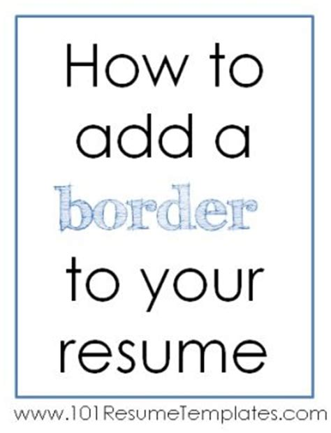 Resume Page Borders by Resume Paperwith Border