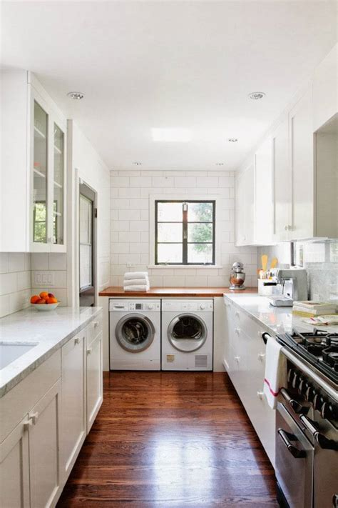 ideas  place washing machine   kitchen