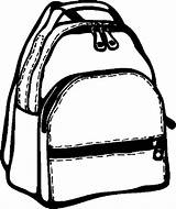 Backpack Coloring Drawing Education Clipart Clip Clipartmag Paper Button Using sketch template