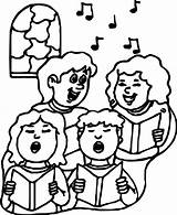 Coloring Choir Children Sheets sketch template