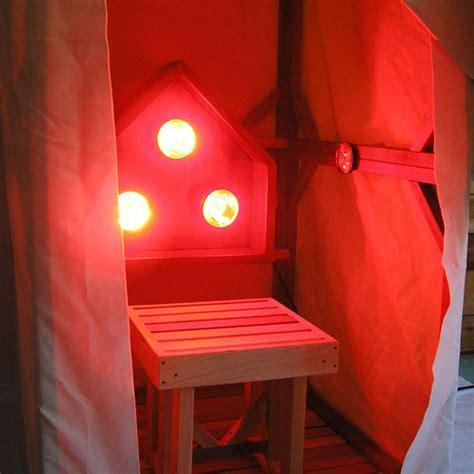 Cedar Lamp by Infrared Sauna Light Box Emits Near Middle And Far
