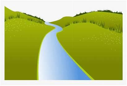 River Clipart Landscape Meadow Transparent Kindpng