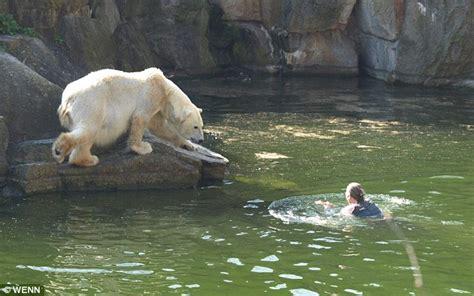 Shocking Moment Polar Bear Attacks Woman Who
