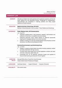 Resume for fresh graduate pdf