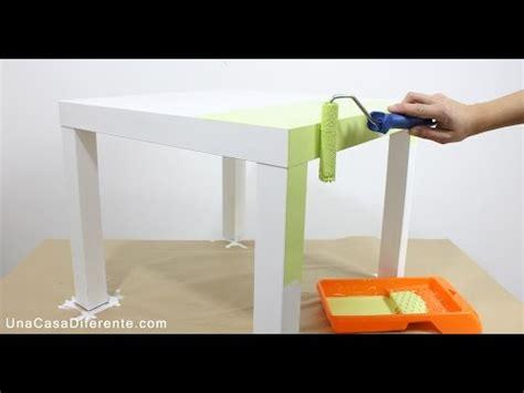 como pintar muebles de melamina mesa lack ikea youtube