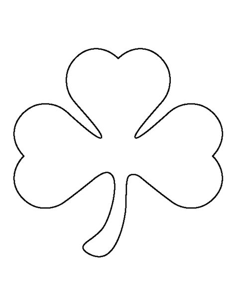 Shamrock Template Free by Pin By Muse Printables On Printable Patterns At