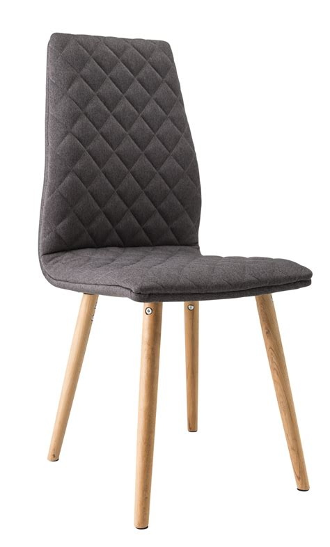 chaise de salle à manger contemporaine bois tissu