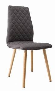 chaise de salle a manger contemporaine bois tissu With meuble salle À manger avec chaise salle a manger en tissu