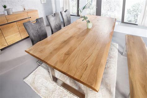 Massiver Baumstamm Tisch Genesis 220cm Eiche Massivholz