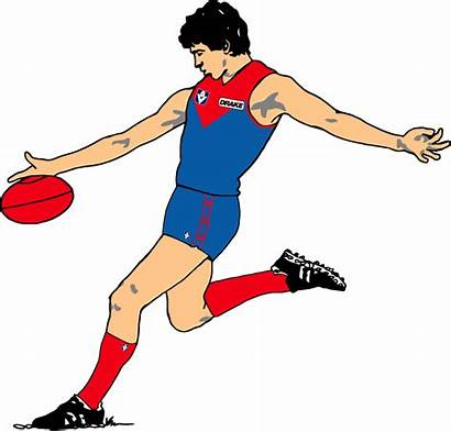 Afl Football Clipart Clip Footy Player Play