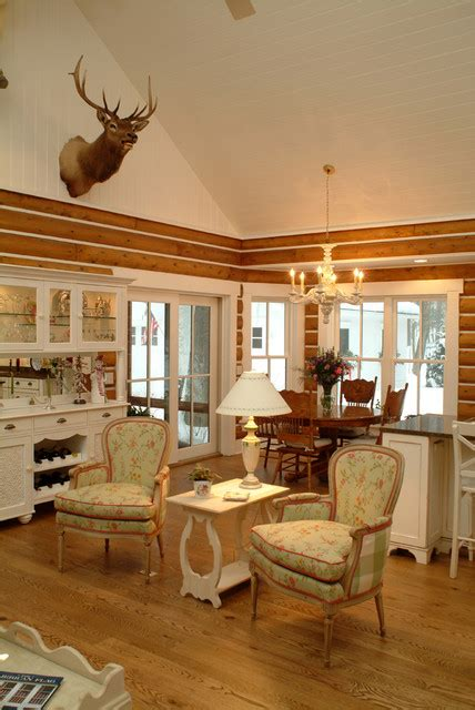 shabby chic cabin josie s cabin shabby chic style living room grand rapids by sears architects