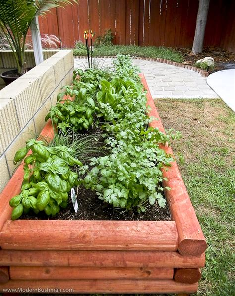 diy log cabin style raised bed vegetable planter