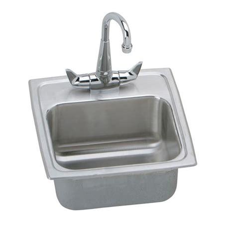 Elkay Bar Sink Strainer by Elkay Lustertone All In One Drop In Stainless Steel 15 In