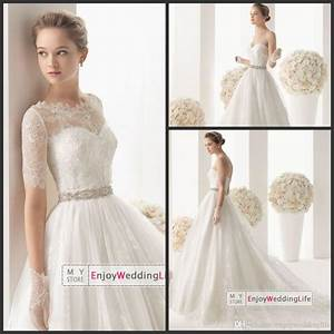 wholesale a line wedding dresses buy free lace bolero With dhgate com wedding dresses