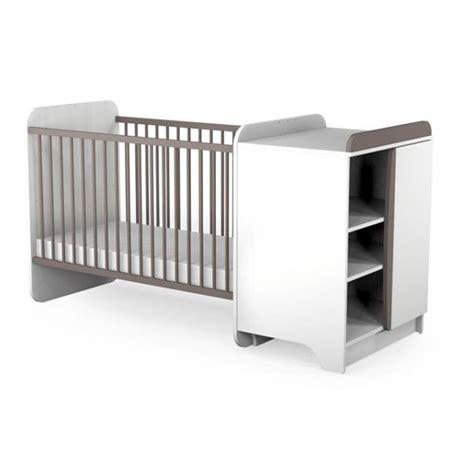chambre nourrisson at4 lit bébé combiné taupe taupe achat vente lit bébé