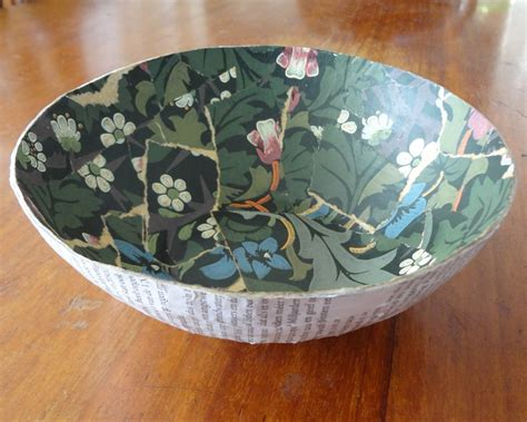 vintage paper bowl     paper bowl papercraft