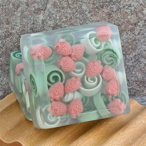 soaps strawberries   soap  pinterest