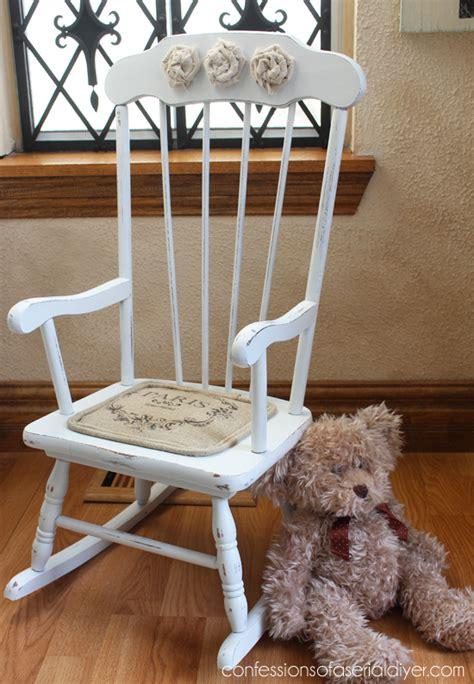 shabby chic rocking chair hometalk