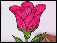How to Draw Roses with Easy Step by Step Valentine's Day ...