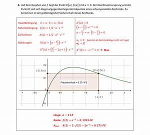 Integrale Berechnen Aufgaben : e funktion kurvendiskussion geradengleichungen fl chen extremalprobleme mathe test mit ~ Themetempest.com Abrechnung