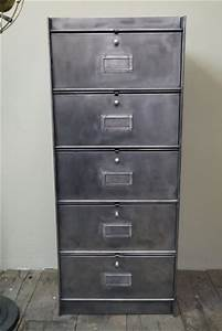 Casier Industriel Metal : ancien meuble 5 casiers industriel a clapet roneo 50 60 ~ Teatrodelosmanantiales.com Idées de Décoration