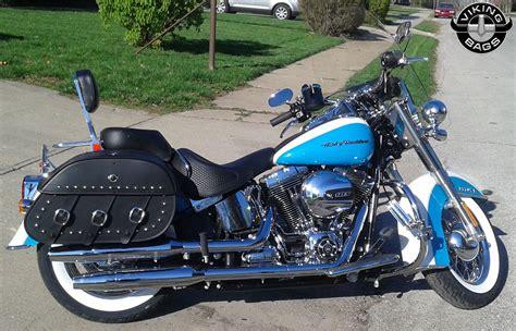 Harley Davidson Softail Deluxe Motorcycle Saddlebags
