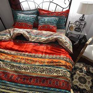 Brighten, Your, Bedroom, Decor, With, Bohemian, Comforters, And