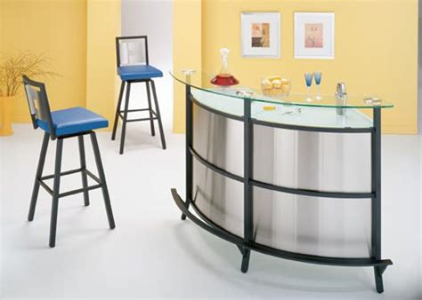Home Bar Glass by Glass Home Bar Stainless Steel Bar Frosted Glass Top