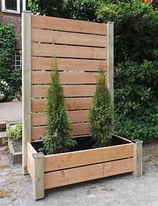 sichtschutz mit pflanzkasten h 190 blumenkasten breite wahlbar With markise balkon mit tapete dieter bohlen