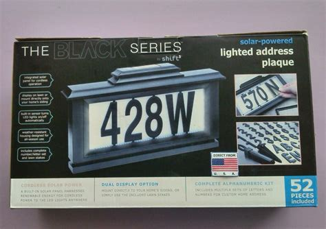 solar powered lighted address plaque end 2 12 2017 4 15 pm