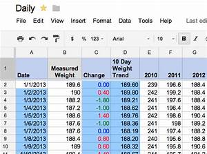 the data diet how i lost 60 pounds using a google docs With google docs workout spreadsheet