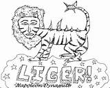 Dynamite Napoleon Liger Drawing Coloring Pages Tiger Ligers Template Drawings Sketch Zine Beat Issue Humorous While November Things Paintingvalley Probably sketch template