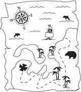 Treasure Coloring Map Pirate Coloringkids Pirates sketch template