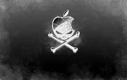 Apple Skull Wallpapers Desktop Cool Crossbones Pirate
