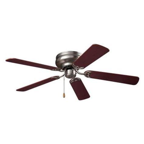 52 hugger ceiling fan nutone hugger series 52 in indoor brushed steel ceiling