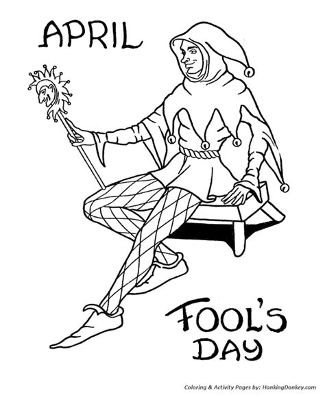 april fools day coloring pages  printable court