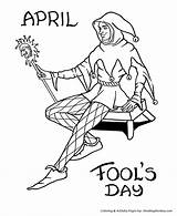 Coloring April Jester Court Fool Fools Printable Drawing Sheet Holiday Honkingdonkey Mardi Gras Childrens Activity Sheets Getdrawings Activities Library Clipart sketch template