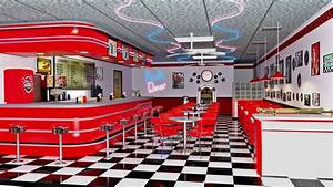 American Diner Wallpaper : leochen 20160524my 50s diner iray daz3d gallery 3d models and 3d software by daz 3d ~ Orissabook.com Haus und Dekorationen